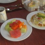 Davino's fruit and Mexican dishes