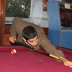 me < Lucky Vashist> plAying pool at H.M2
