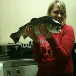 Dinner caught locally!