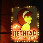 outside the redhead