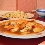 poulet kung pao et riz cantonnais