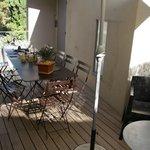 Courtyard/Patio optional eating area.