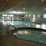 huge spa & warm pool!