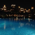 Night View of Hotel and Pool