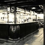 The bar at Wainwrights' Inn - serving real ales