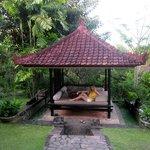 Very nice pavilion near our bungalow