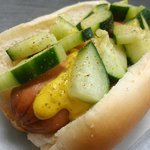 Babe's Hot Dog with Cucumber