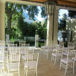 Outdoor sitting area, turned into our ceremony area
