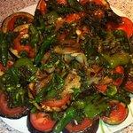 Grilled vegetables, special order, ask staff
