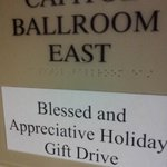Capital Ballroom East hosting B&A Gift Drive