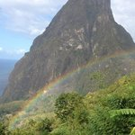 rainbow over Petite Piton