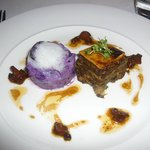 Starter Wild Mushroom With Purple Potato Salad & Girolle Dressing