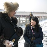 Right our guide in the Forbidden City