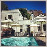 From the pool up to Table Mountain