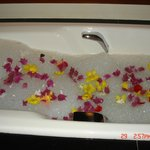 Fresh flowers in my bath!