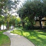 walk way to lake and jogging path