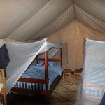 Our tented bedroom.