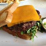 Delicious Cheeseburger on Texas Toast
