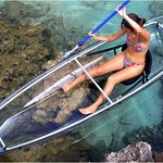 Molokini transparent kayak