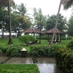 View from our room. Yes it is raining but