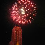 Fire works on the river Sat night- outside Next 2