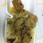 my curry chicken with rice that I took back to work.