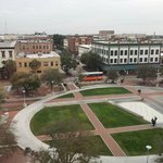 View of Ellis Square from our room