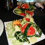Fruit sculptures