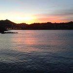 couché de soleil vue de la terrasse du poisson rouge