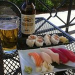 Great sushi al fresco!