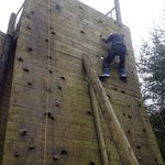 The Climbing Wall - harder than it looks!!