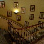 L'escalier, joliment décoré comme tout le reste