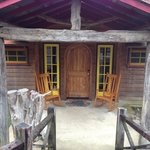 The front door of the Firefly Cabin