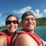 Fun on the blue boats.  Beautiful scenery!