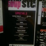 specials menu - a little blurry