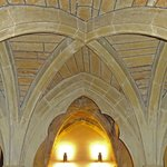 Vaulted ceiling in the crypt
