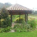 area de descanso en los jardines