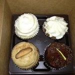 wedding cake, sweet potato pie, snicker doodle & Texas chocolate