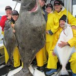 An incredible 325 pound halibut!