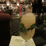 Enjoying a mint julep in the lobby bar watching the duck walk