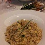Risotto with scallops & zucchini