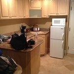 Family suite kitchen area.