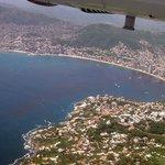 Desde el avión. Vista de Acapulco Guerrero