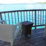 deck on overwater bungalow 17