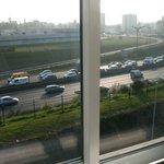 vue de la fenêtre de la chambre (3ème étage)