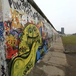 The mile-long stretch of the famous Berlin Wall