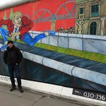 One of my favourite art on the mile-long stretch of the famous Berlin Wall.