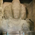 Elephanta Caves: Trimurti sculpture