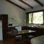 Cabin kitchen area