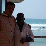 My 5 years friend at kovalam beach Suft pad seller